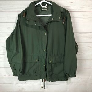 L.L.Bean | military jacket women's S Amy green